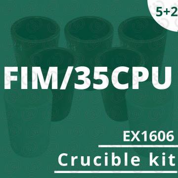 Kit 5 crogioli EX1606 per...
