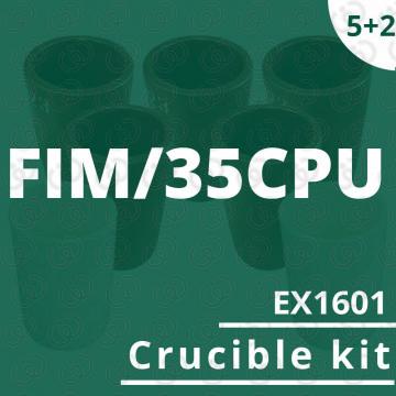 Kit 5 crogioli EX1601 per...